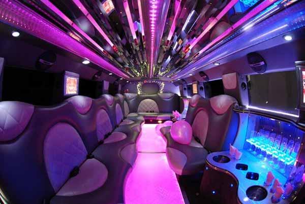 Cadillac Escalade limo interior mcallen