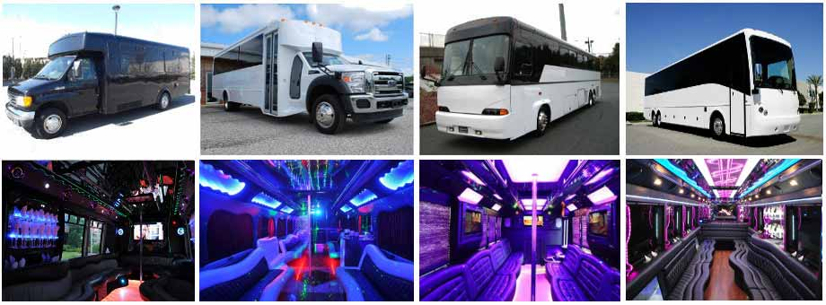 wedding transportation party buses mcallen